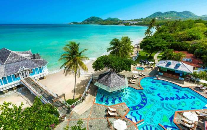 Sandals Halcyon Beach, Castries, St Lucia | Caribbean Warehouse by ...